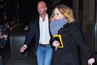 Adele with her bodyguard Peter van der Veen. Photo / Getty Images