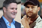 Chris Cairns and Brendon McCullum. Photos / Chris Gorman and Getty Images