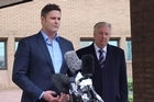Chris Cairns talks to media following his not guilty verdict.