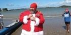 Santa's welcome to Waitangi