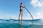 Stand-up paddle boarding is a great workout. Photo / File photo