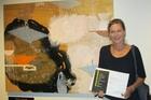 WINNING WORK: Auckland artist Frances Hansen with her work Pinch of Salt. PHOTO/KATEE SHANKS