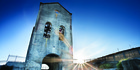 Waihi's iconic Cornish Pumphouse building. Photo / Destination Coromandel