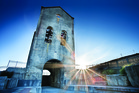Waihi's iconic Cornish Pumphouse building. Photo / Destination Coromandel