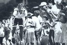 Graeme Miller on his way to winning the 1990 Commonwealth Games cycling medal in Henry St, Avondale. Photo / Kenny Rodger