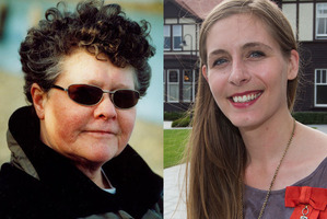 """Keri Hulme (left) has come to Eleanor Catton's defence, calling Sean Plunket's comments """"silly""""."""