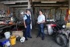 Rural crime is under the spotlight and Federated Farmers Bay of Plenty provincial president Rick Powdrell and Te Puke Police Sergeant Mark Holmes want to urge people to report every crime and suspicious activity. Photo / John Borren