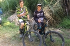 ALL DOWNHILL: Whanganui mountain bikers Tyler Smith (left) and Blake Rountree finished fourth and fifth overall in their respective grades at the North Island Downhill Championship final round in Warkworth at the weekend.PHOTO/SUPPLIED