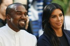 Recording artist Kanye West and TV personality Kim Kardashian. Photo / Getty Images