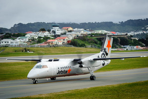 Jetstar is operating five Bombardier Q300 turbo props on the regional route which can carry 50 passengers each.