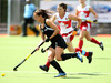 Petrea Webster scored for the Black Sticks in the 4-1 defeat. Photo / Michael Cunningham