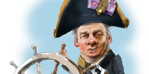 The title this year goes to John Key's deputy and Minister of Finance, Bill English. Illustration / Rod Emmerson