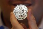 A 25 Bitcoin token. Photo / AP
