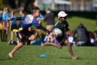 Kele Lasaqa makes a break for Greenpark School v Ohope at the EastPack Baywide Rippa Rugby World Cup played at Paengaroa in May. Photo / File