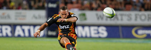 Aaron Cruden missed the Rugby World Cup after rupturing his ACL during the Super Rugby season. Photo / Christine Cornege.