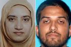 Tashfeen Malik and Syed Farook. Photos / Getty Images