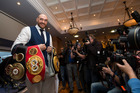 Heavyweight world boxing champion Tyson Fury. Photo / AP