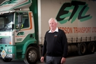 DEDICATED: Hawke's Bay Today Person of the Year, Ian Emmerson from Emmerson Transport. PHOTO/ANDREW WARNER