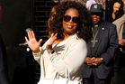 Oprah Winfrey arrives for The Late Show with David Letterman on May 14 in New York City. Photo / Getty Images