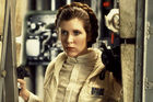 Carrie Fisher as Princess Leia in Star Wars.