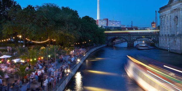 Bar on Spree river in Berlin. Photo / Supplied