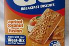 Weetbix Go biscuits. Photo / Wendyl Nissen