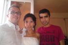 Leo's parents, Samuel Forrest (left) with wife Ruzan Badalyan and her brother Stepan Badalyan. Photo / Supplied