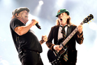 Singer Brian Johnson and musician Angus Young of AC/DC. Photo / Getty Images