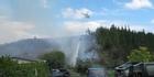 Chopper fights SH12 fire
