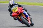 Taupo's Rex Mincher (Yamaha R6), is enjoying the best summer of his racing career. Photo / Andy McGechan