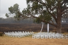 An abandoned wedding venue are among the damage of the Scotsburn fire. Photo / ABC News
