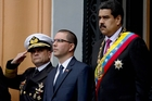 DEFEATED - BUT WILL HE GO?: Venezuelan President Nicolas Maduro (right) with Vice President Jorge Arreaza (centre) at a ceremony in Caracas last Thursday marking the anniversary of the death of independence hero Simon Bolivar.PHOTO/AP