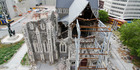 The earthquake damaged Christchurch Cathedral. Photo / Supplied