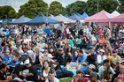 Crowds at Tauranga Christmas in the Park. Photo/Andrew Warner