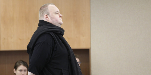 Loading Kim Dotcom in court today. Photo / Nick Reed