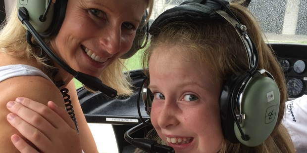 Nicky Toresen and Heidi were involved in a crash landing after a massive gust of wind threw sent the helicopter into a frenzy. Photo / Supplied