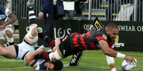 Tries like this scored by Canterbury's Patrick Osborne are set to be worth six points. Photo / Getty