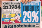 29 per cent of our children now live in poverty compared with 15 per cent in 1984.