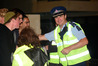 Western Bay of Plenty area commander, Inspector Clifford Paxton, on patrol during the celebrations last New Year's Eve. Photo/George Novak