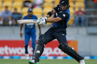 Corey Anderson playing against Sri Lanka in Wellington earlier in the year. Photo / Mark Mitchell