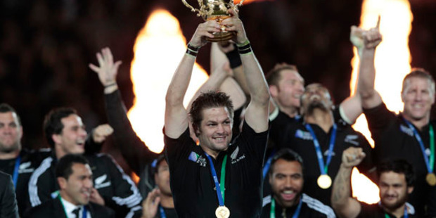 The All Blacks convincingly defeated the Wallabies in the Rugby World Cup final. Photo / Getty Images