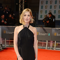 Baftas red carpet Rosamund Pike attends the EE British Academy Film Awards. Photo / Getty Images