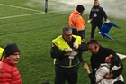 A firework sprayed fiery shrapnel into the stands at last year's incident at Eden Park.