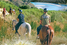 Horse trekking is popular with tourists visiting Methven. Photo / Supplied