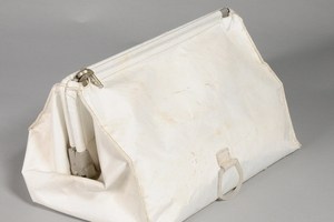 The bag found in Neil Armstrong's closet. Photo / Smithsonian National Air and Space Museum