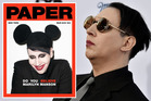 Marilyn Manson wears Mickey Mouse ears on the cover of Paper magazine. Photo / Paper; Getty Images