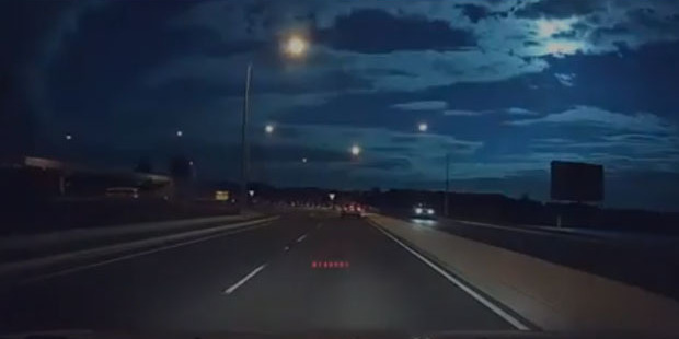 Loading A dash cam caught the meteor racing across the skies. Photo / Supplied
