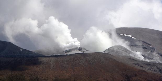 Te Maari Crater eruption on Mt Tongariro, 2012. Photograph: Ben Fraser