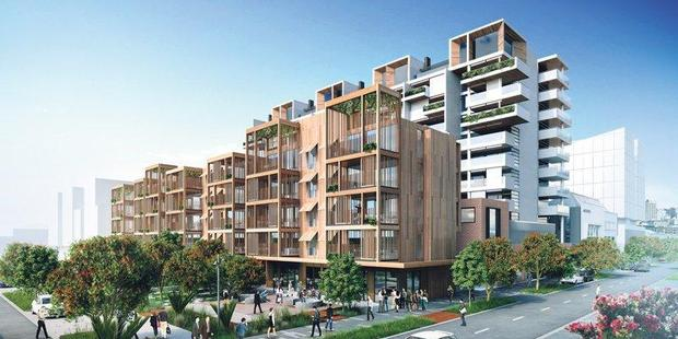 Wynyard Central: Once completed the Wynyard Quarter residential development will be the first in New Zealand to target a Homestar 7 rating for sustainability. Image / Supplied