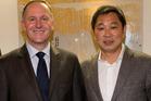 John Key and controversial businessman Donghua Liu. Photo / Supplied